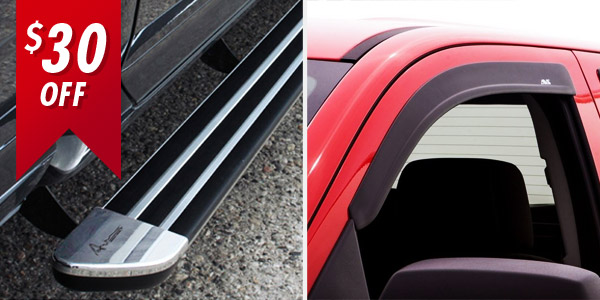 U-Guard Running Board and AVS Ventvisor